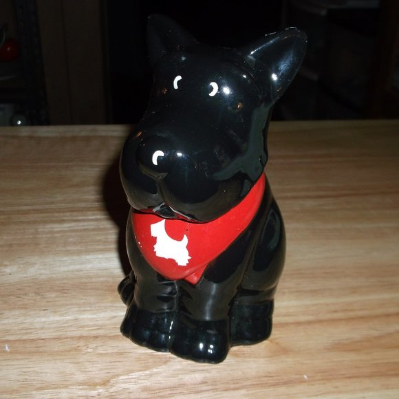 scottie dog glass figure sugar bowl